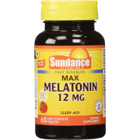 Sundance 12 Mg Melatonin Tablets 60 ea [840093102348]