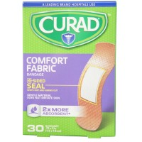 Curad Comfort Fabric Bandages .75 x 3 Inches 30 Each [884389108300]