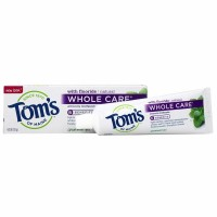 Tom's of Maine  Whole Care Toothpaste with Fluoride, Spearmint Gel 4 oz [077326470213]