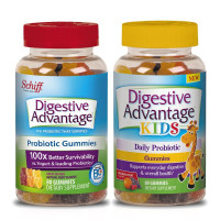 Digestive Advantage Probiotic Gummies, Natural Fruit, Kids 80 Ct & Adults 80 Ct, 1 Ea [191897509636]