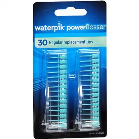Waterpik Powerflosser Regular Replacement Tips FT-01  30 ea [073950215787]