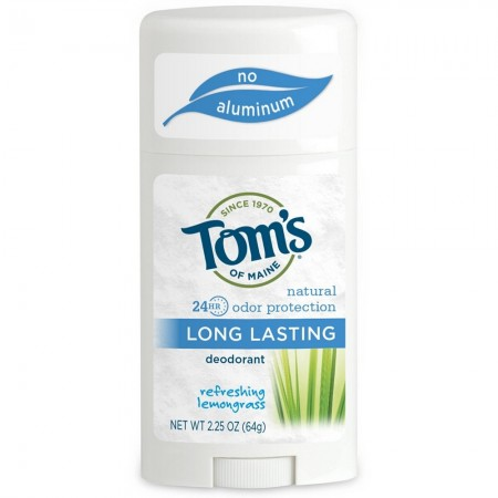 Tom's of Maine Natural Long Lasting Deodorant, Refreshing Lemongrass 2.25 oz [077326613252]