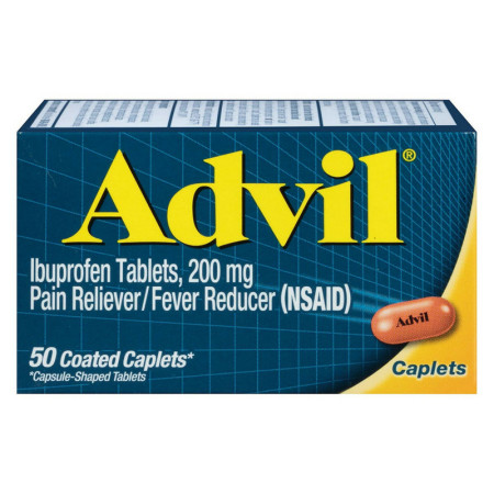Advil 200 mg Coated Caplets 50 ea [305730160308]