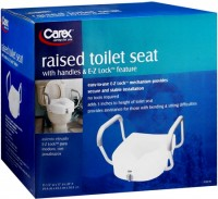 Carex Raised Toilet Seat B304-00 1 Each [023601130402]