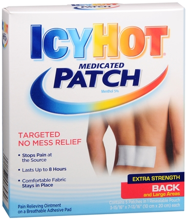 ICY HOT Medicated Patches Extra Strength Large (Back) 5 Each [041167008430]