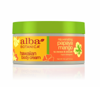 Alba Botanica Hawaiian Body Cream, Rejuvenating Papaya Mango 6.5 oz [724742008222]