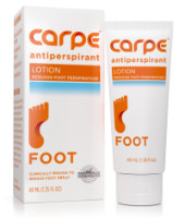 "Carpe Antiperspirant Foot Lotion, A Dermatologist-Recommended Solution to Stop Sweaty, Smelly feet Great for hyperhidrosis"" 1 ea [636266162352]"