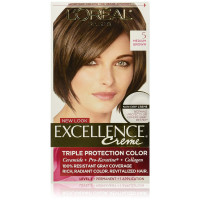 L'Oreal Paris Excellence Creme Triple Protection Hair Color, 5 Natural Medium Brown 1 ea [071249210550]