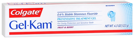 Gel-Kam Fluoride Preventive Treatment Gel Fruit and Berry Flavor 4.30 oz [038341165935]