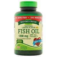 Nature's Truth Fish Oil Omega-3, Natural Lemon Flavor 120 ea [840093100771]