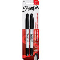 Sharpie Fine & Ultra Fine Permanent Markers, Black 2 ea [071641321625]