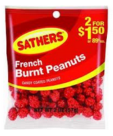 Sathers French Burnt Peanuts 12 pack (2oz per pack)  [075602101561]