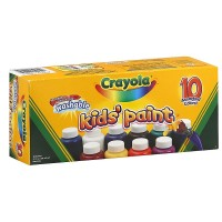 Crayola Washable Kid's Paint, Assorted Colors 10 ea [071662112059]