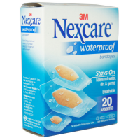 Nexcare Waterproof Clear Bandages Assorted 20 Each [051131995246]