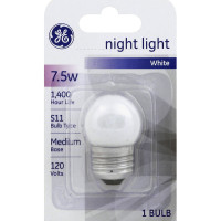 GE Night Light Bulb 7-1/2 Watts 120 Volt 1 ea [043168907033]