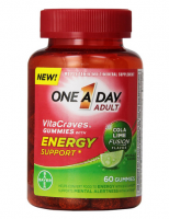One-A-Day VitaCraves Energy Support Gummies Cola Lime, 60 ea [016500558279]