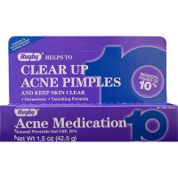Rugby Acne Medication Gel Benzoyl Peroxide 10% 1.5 oz [305361056568]