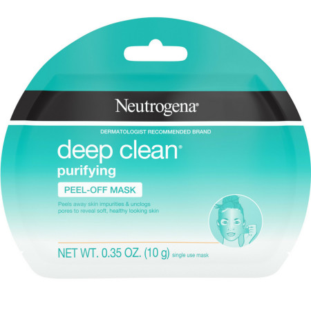 Neutrogena Deep Clean Purifying Peel-Off Face Mask, Oil-Free & Non-Comedogenic Deep Pore Cleansing Single-Use Facial Mask, Single-Use 1 ea [070501100578]