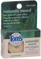 Tom's of Maine Naturally Waxed Anti-Plaque Flat Floss Spearmint 32 Yards [077326980309]