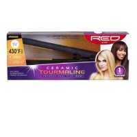 KISS Red Ceramic Tourmaline Professional Wet To Dry Flat Iron 1 ea [731509510720]