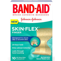 Band-Aid Skin-Flex Adhesive Bandages, Finger 10 ea [381371171293]