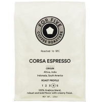 For Five Corsa Espresso Whole Bean 12 oz [853473008130]
