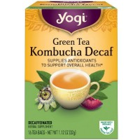 Yogi Herbal Tea, Green Tea Kombucha Decaf 16 ea [076950450370]