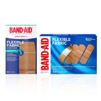 "BAND-AID Brand Flexible Fabric Adhesive Bandages for Wound Care & First Aid, 1 Box Extra Large Size 10 ct and 1 Box All One Size 100 ct "" 1 ea [191567490165]"