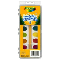 Crayola Washable Watercolors Set, 16 Assorted Colors 1 ea [071662005559]