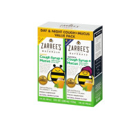 ZarBee's Naturals Children's Daytime/Nighttime Cough Syrup + Mucus Reducer, Grape, Twin Pack, 8 oz  [857647007394]