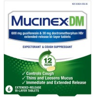 Mucinex DM 12-Hour Expectorant and Cough Suppressant Tablets, 6 ct [363824056364]
