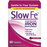 Slow Fe Slow Release Iron Tablets 60 ea [886790019602]