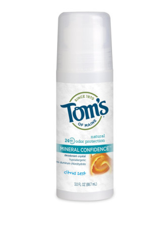 Tom's of Maine Mineral Confidence Deodorant, Citrus Zest 2.40 oz [077326454367]