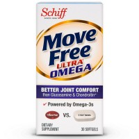 Move Free Ultra Omega Omega 3 Krill Oil, Hyaluronic Acid and Astaxanthin Joint Supplement, 30 ct [020525117809]