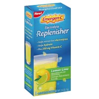 Emergen-C Electrolyte Replenisher  Drink Mix with 250mg Vitamin C, Lemon Lime Flavor 8 ea [076314510115]