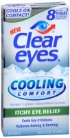 Clear Eyes Cooling Comfort Itchy Eye Relief Eye Drops 0.50 oz [678112101269]