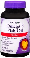 Natrol Omega-3 Fish Oil 1200 mg Softgels 60 Soft Gels [047469044091]