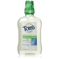 Tom's of Maine Wicked Fresh! Mouthwash, Peppermint Wave 16 oz [077326470169]