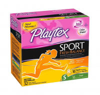 Playtex Sport Fresh Balance Tampon, Multi-pack, 32 ea [078300002208]