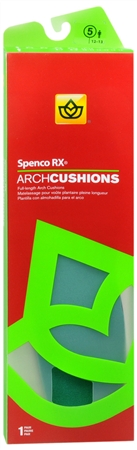 Spenco RX Arch Cushions Full Length #5 1 Pair [038472451150]