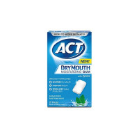 ACT Dry Mouth Moisturizing Gum, Sugar-Free Soothing Mint,  20 ea [041167099216]