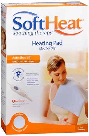SoftHeat Heating Pad Moist or Dry Heat King Size HP118 1 Each [328785601183]