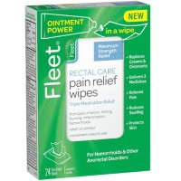 Fleet  Rectal Care Pain Relief Wipes 24 ea [301320005226]