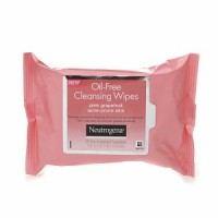 Neutrogena Oil-Free Cleansing Wipes for Acne Prone Skin, Pink Grapefruit 25 ea [070501061626]