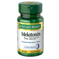 Nature's Bounty Melatonin 1 mg Tablets 180 Tablets [074312028328]