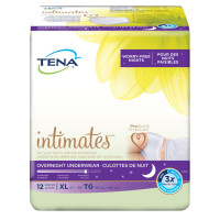 Tena Incontinence Underwear for Women, for Overnight, XLarge, 12 Count [768702544528]