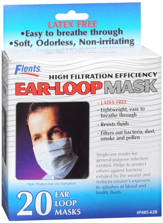 Flents Ear-Loop Masks 20 Each [023185056204]