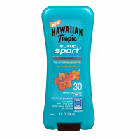 Hawaiian Tropic Tropic Island Sport Lotion, SPF 30 Light Tropical Scent 8 oz [075486089870]