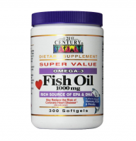 21st Century Omega-3 Fish Oil 1000 mg Softgels 300 ea [740985229217]