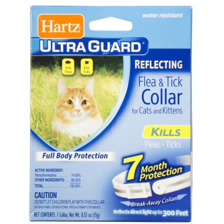 Hartz Ultra Guard Reflecting Flea & Tick Cat Collar 1 Each [032700028992]